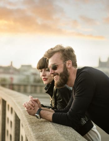Digital Nomads on a bridge in Europe