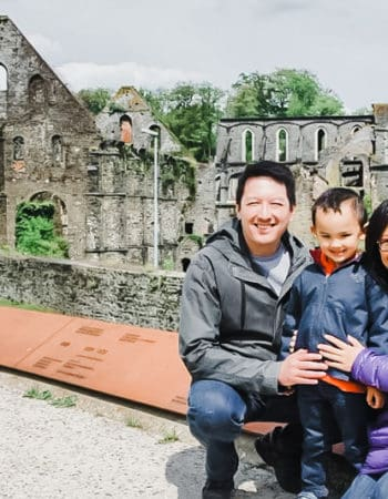 Expat Jaimie with her family in Belgium