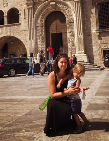 Nina and her son in Italy