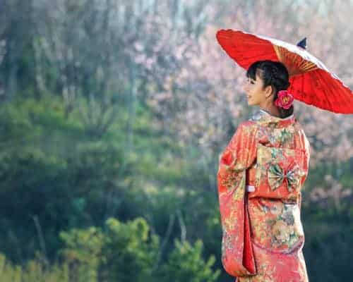 Travel Japan traditional dress