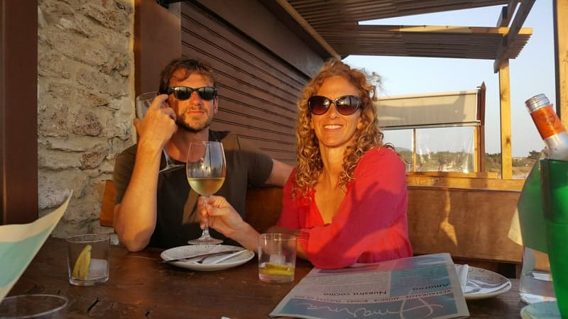 Expat Jackie and her husband in Spain