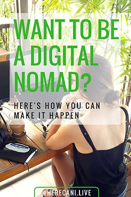 Pinterest image for wanting to be a digital nomad