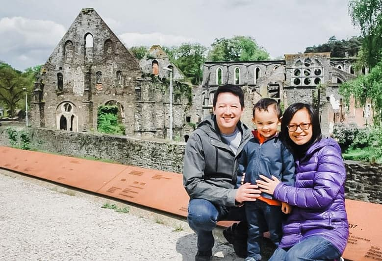 Jaimie and her family in Belgium as an expat