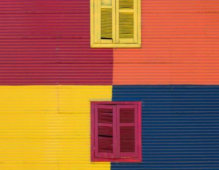 A colourful facade in La Boca Argentina