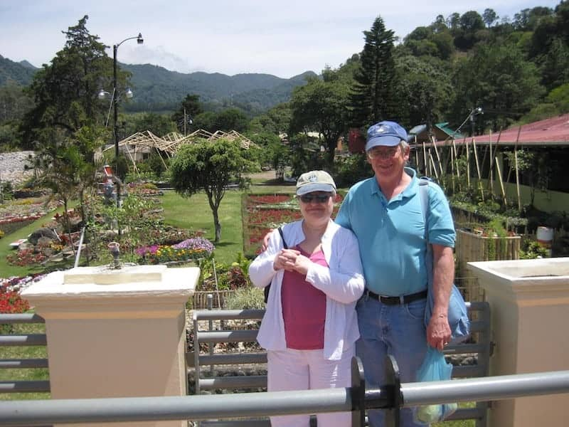 Suzanna and her husband in Boquete