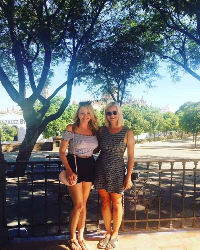 English teacher Cara and her friend in Jerez, Spain