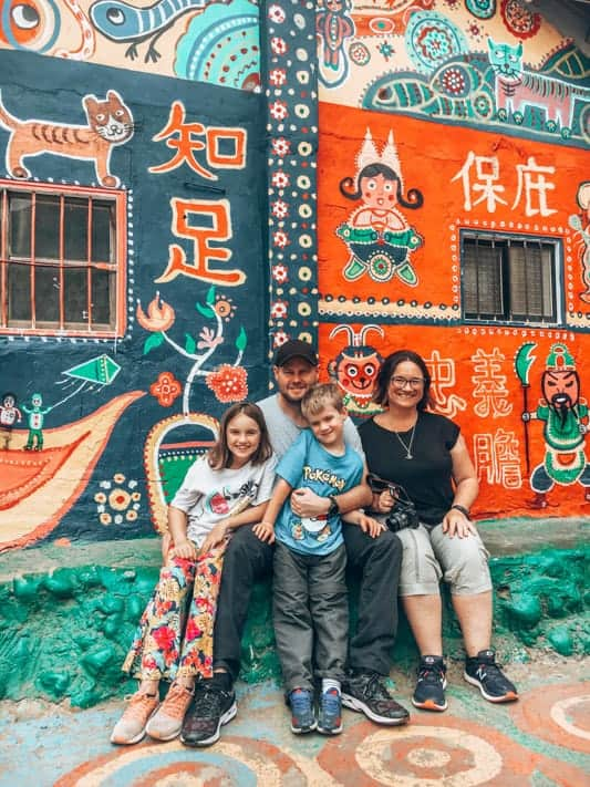 Kylie and family in taiwan