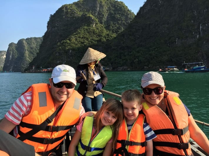 Kylie and family in Vietnam