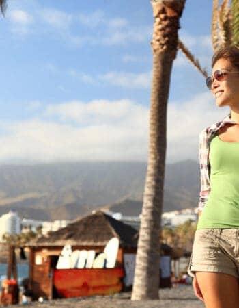 Girl who has a visa to Spain in Tenerife