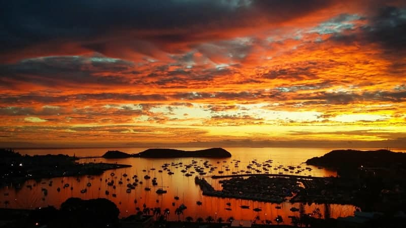 Sunsets like this ever night if you move to New Caledonia.