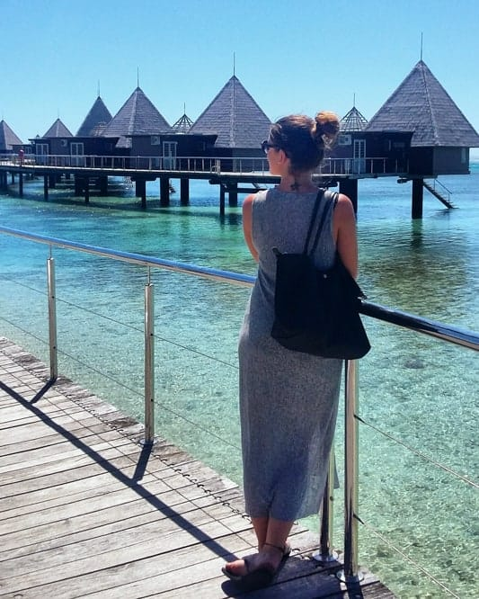 Expat Viola after moving to New Caledonia