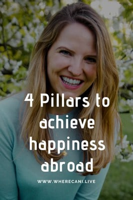 4 Pillars to happiness as an expat