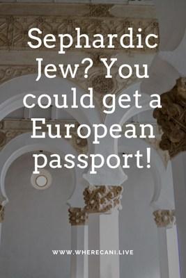 European passport for Sephardic Jews