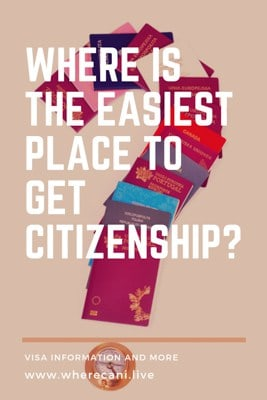 where is the easiest place to get citizenship pin