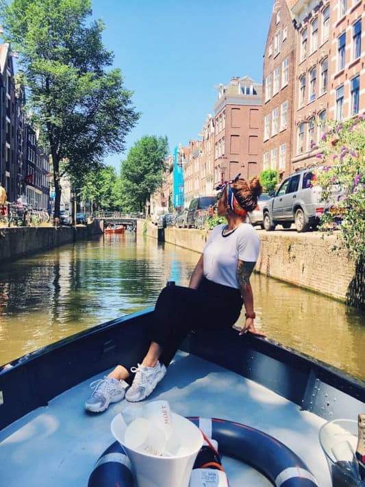 Sable next to the canals in Amsterdam