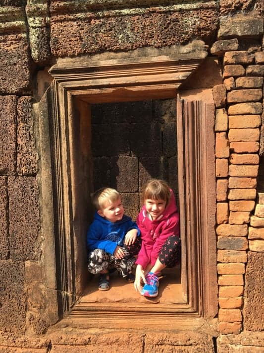 Kylie and family in cambodia
