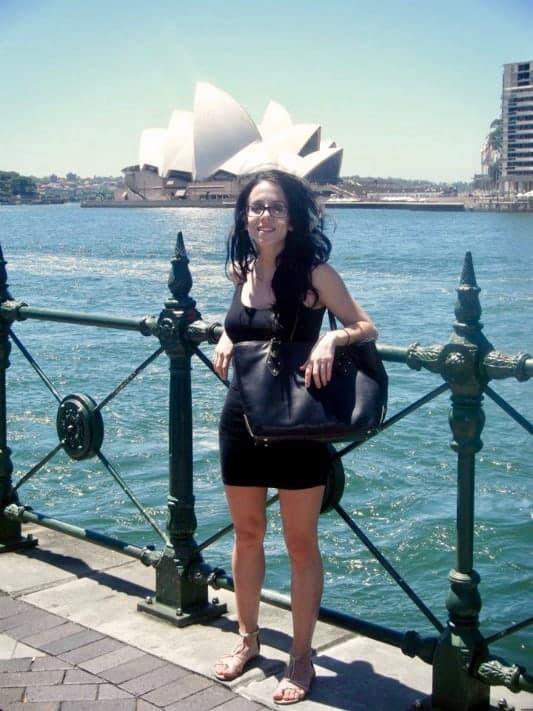 Molly at the Opera House in Australia