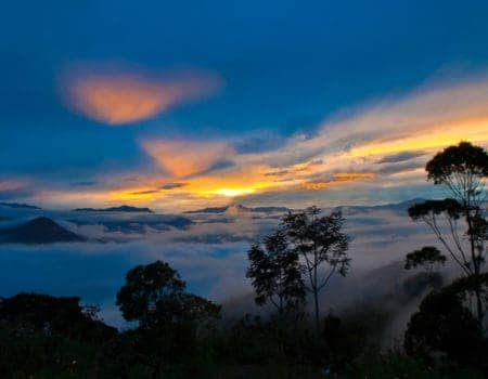 A view from a mountain in Equador