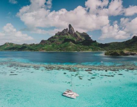 Ocean scene in French Polynesia