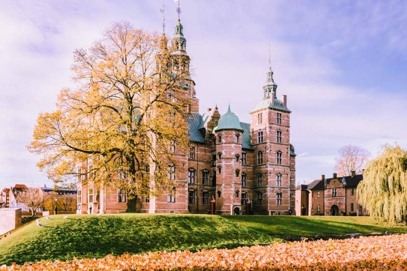 A castle in Copenhagen in Europe