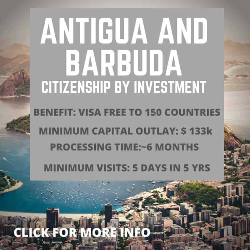 Antigua and Barbuda Citizenship by investment information