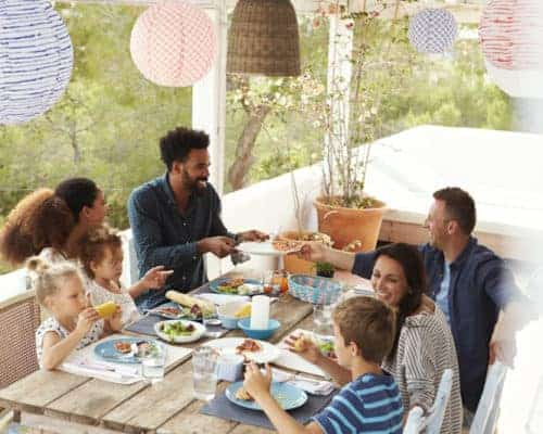 Lowering stress with family and friends