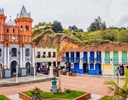 Street scene in Colombia