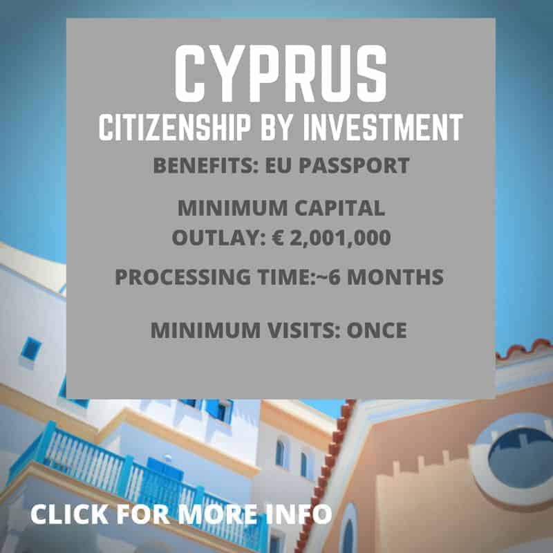 Cyprus Citizenship by investment information