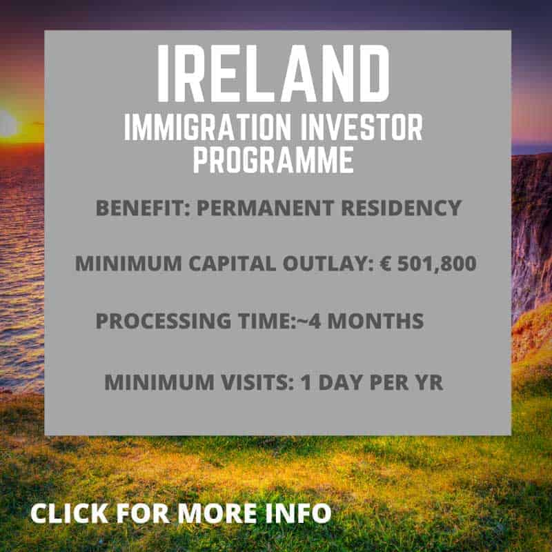 Information about the Irish immigration investor programme