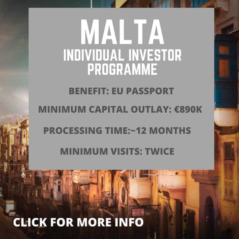 Malta Citizenship by investment information