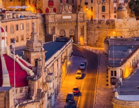 the old town in Malta