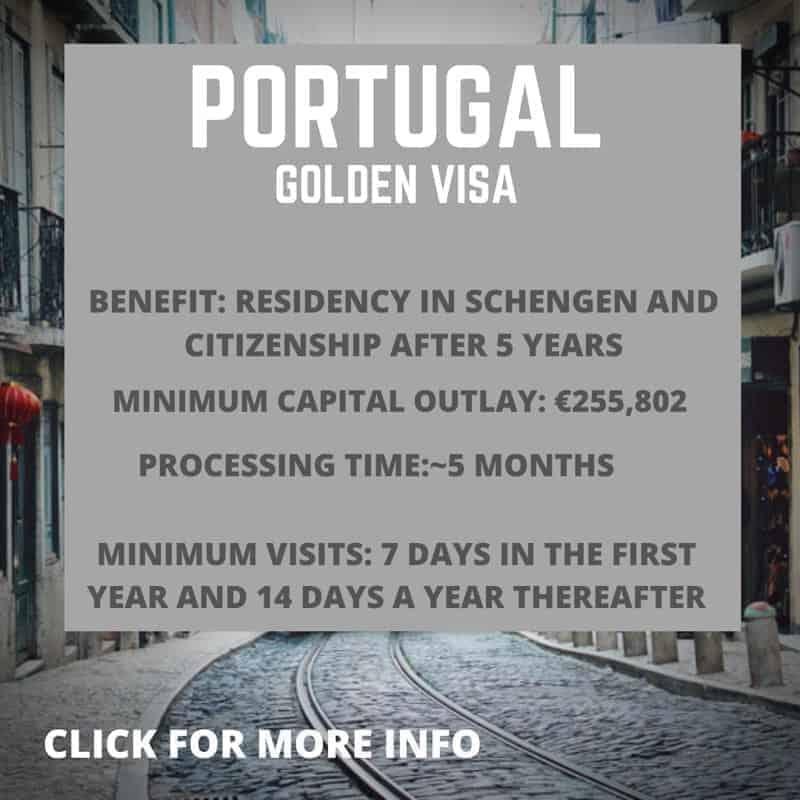 Information about the Portugal Golden Visa programme