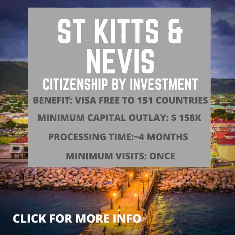 St Kitts and Nevis citizenship by investment information