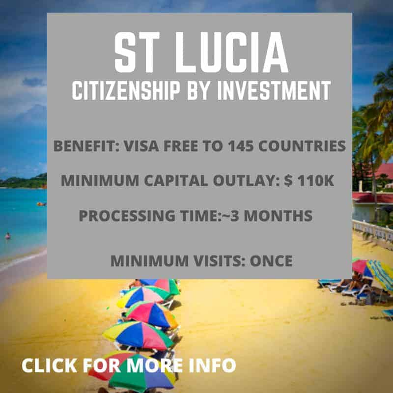 St Lucia Citizenship by investment information