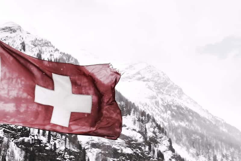 Swiss flag. Switzerland is the best place to live in