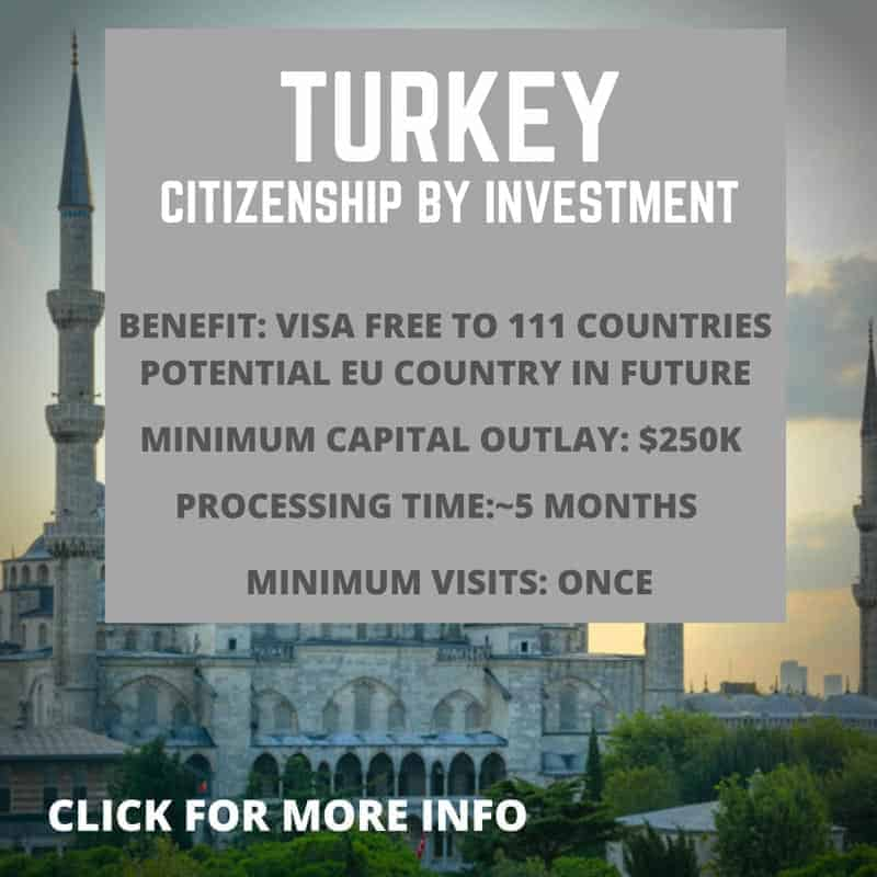 Citizenship by investment Turkey information
