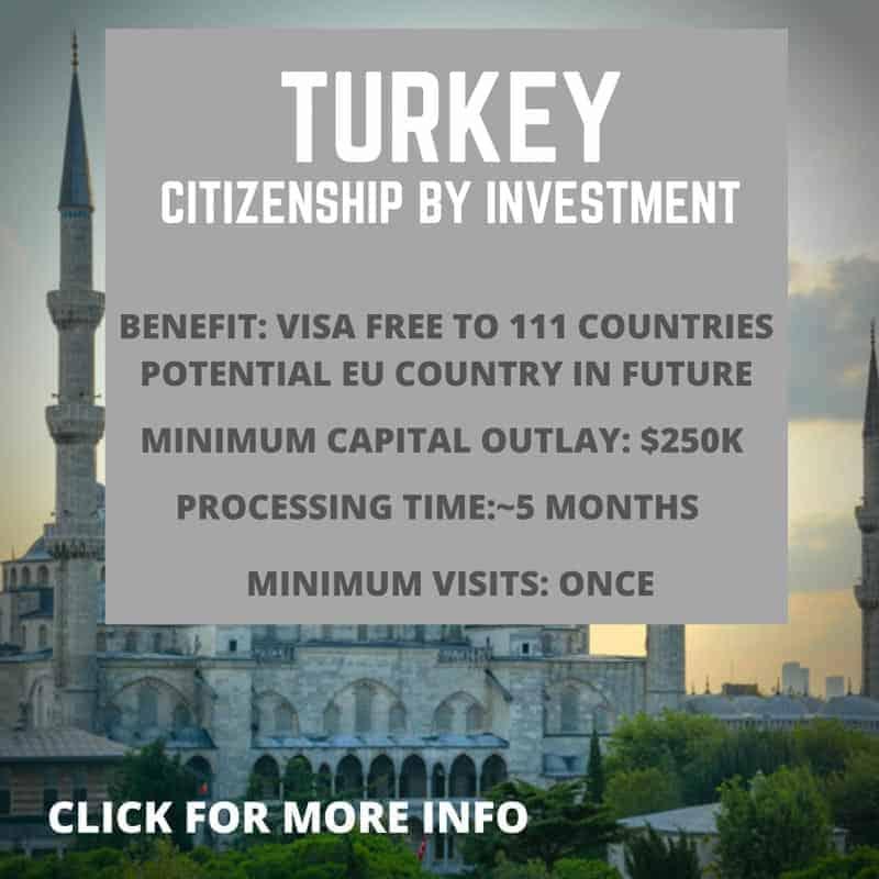 Citizenship by investment Turkey information
