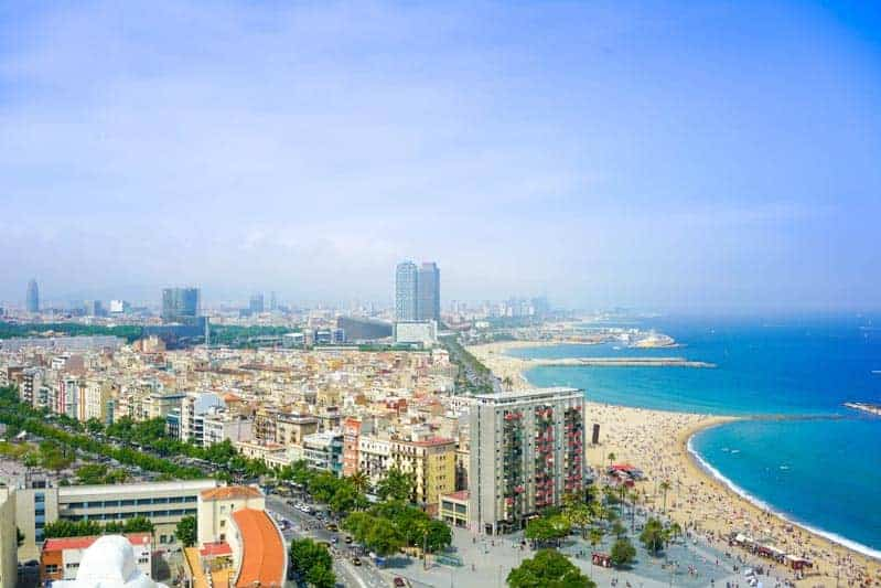 The beaches of Barcelona.  A good reason to move to Spain