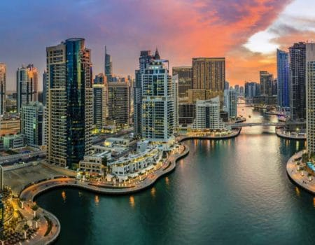 Dubai Marina in the UAE