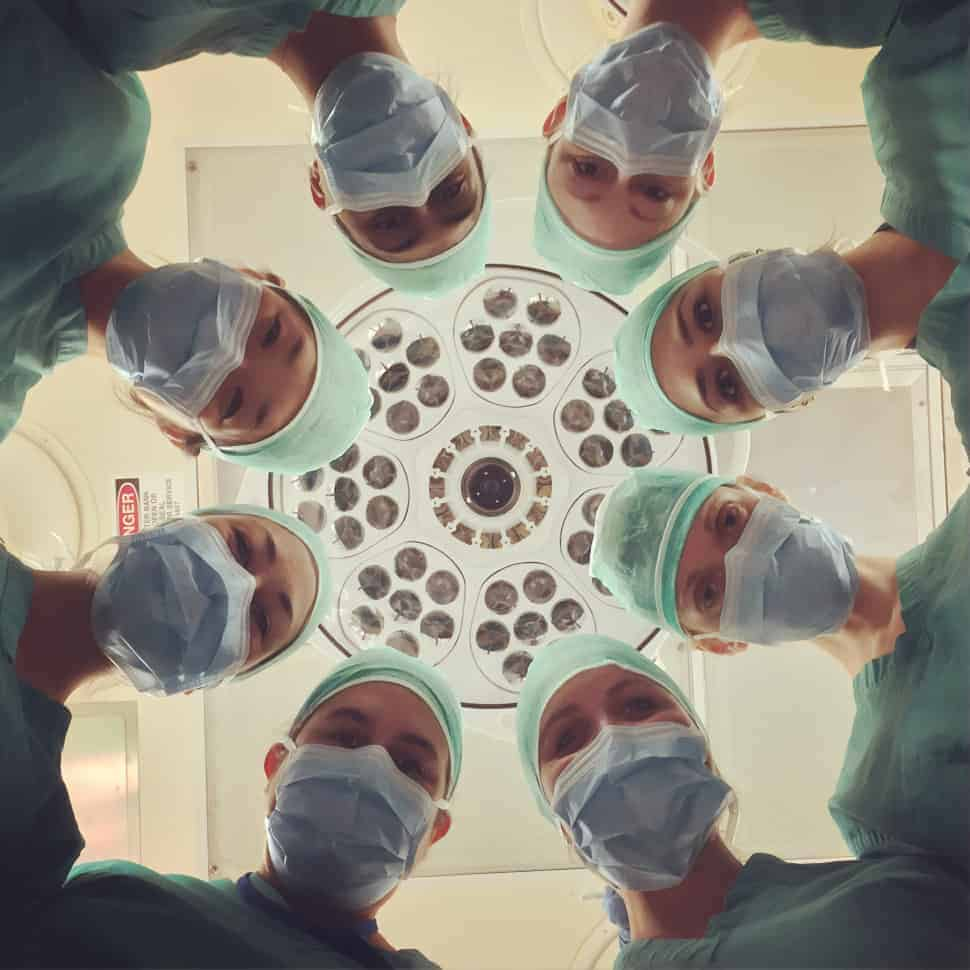 Group of doctors looking at the camera.
