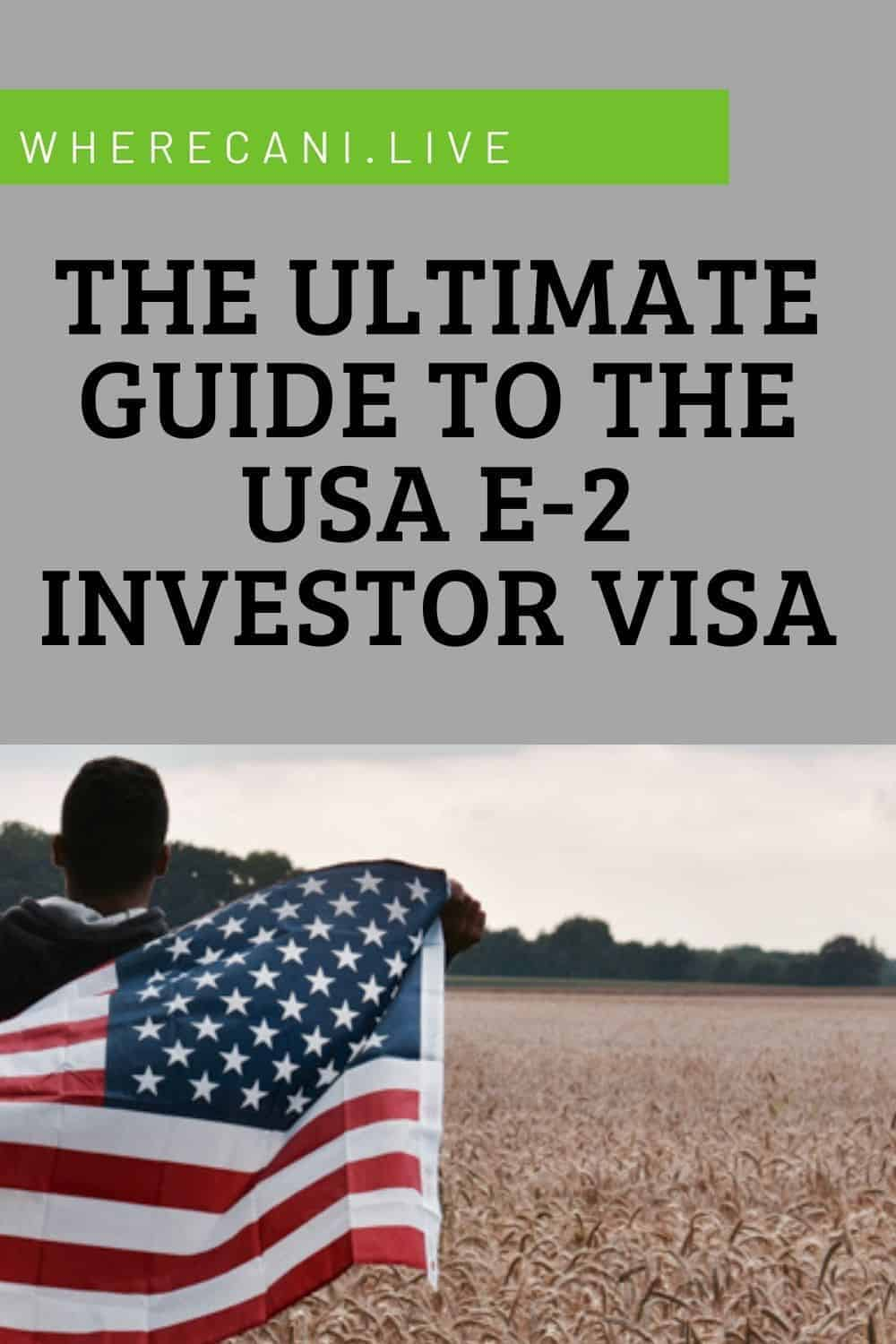 Here is the ultimate guide to getting the USA E2 Visa.  Invest in a business and live in the land of the free! #visa #usa #unitedstates via @wherecanilive