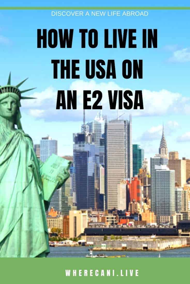Are you wanting to live in the land of the free?  This visa allows  you to start a business and live in the United States. #visa #unitedstates #usa #residency #E2Visa via @wherecanilive