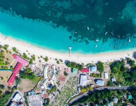 View over a Grenada beach