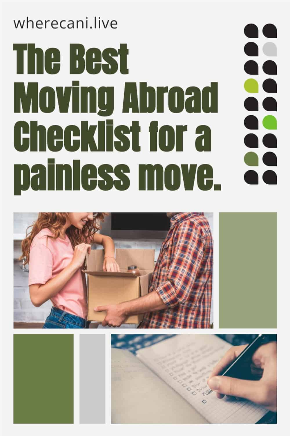 Are you moving abroad? Hundreds of things to think about?  Use our ultimate checklist to make the move pain-free #checklist #moveabroad #overseas #relocation via @wherecanilive