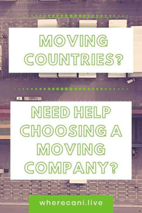 Moving countries?  Need help choosing a moving company. Pin image