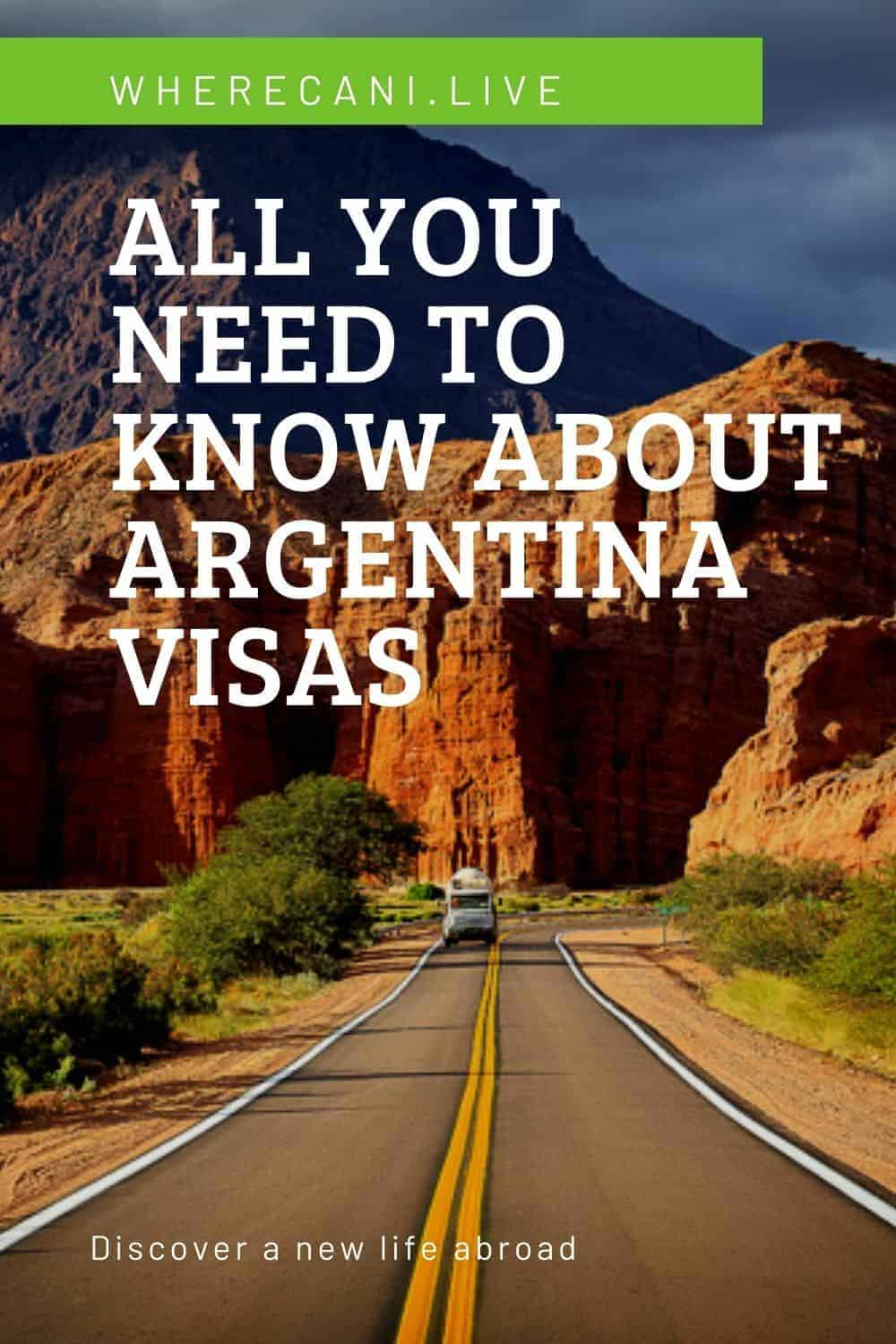 Argentina is hugely popular with Expats. Some come for a quick visit, some to start a business, and many come to retire.  Here is all you need to now about your visa to Argentina #visas #argentina #expat #permits #immigration via @wherecanilive
