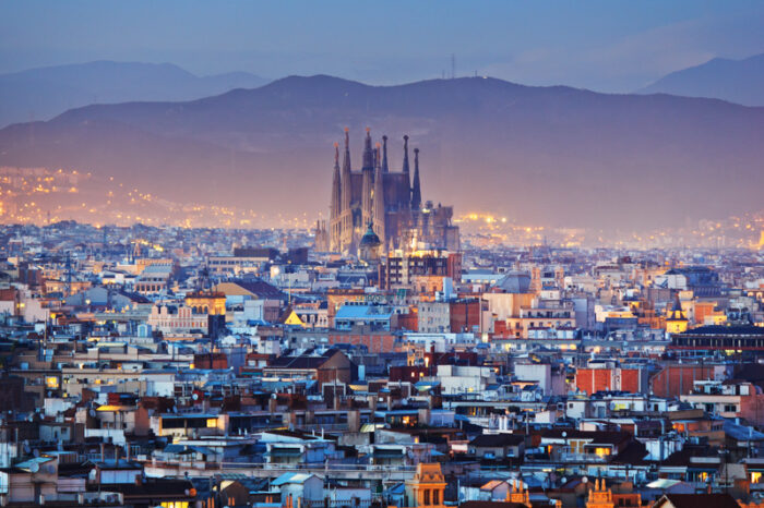 A view of Barcelona Spain where many Expats are taking up the non lucrative visa