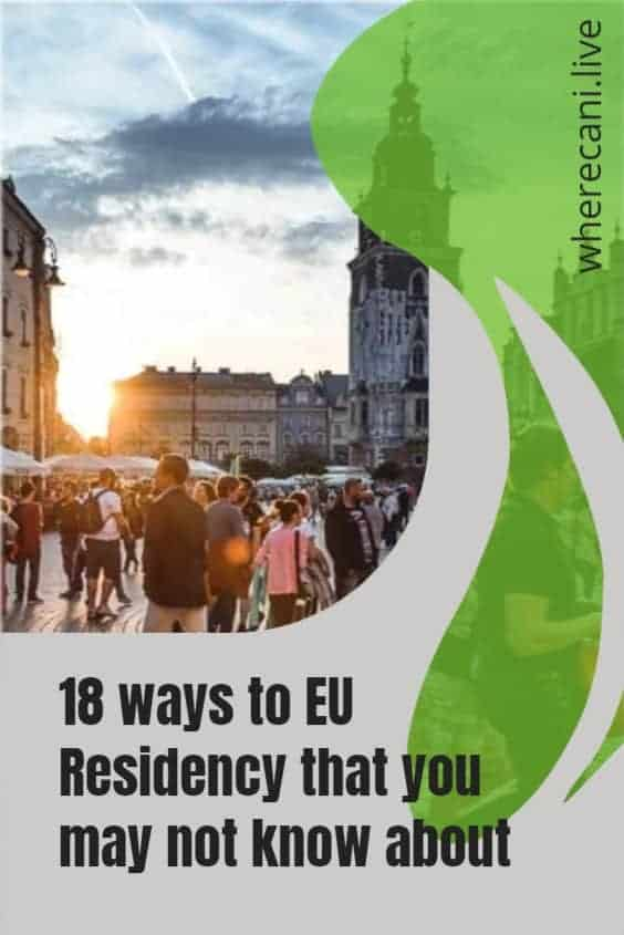 18 ways to European residency that you may not know about. #europe #european #residency #visas #eu via @wherecanilive