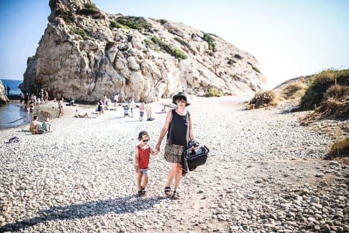 A family on a beach in Cyprus where you can get residency