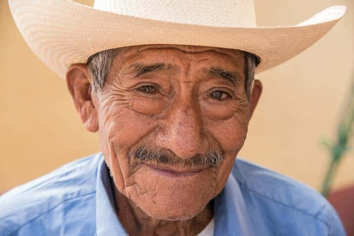 A man from Panama - a citizen in his cowboy hat.